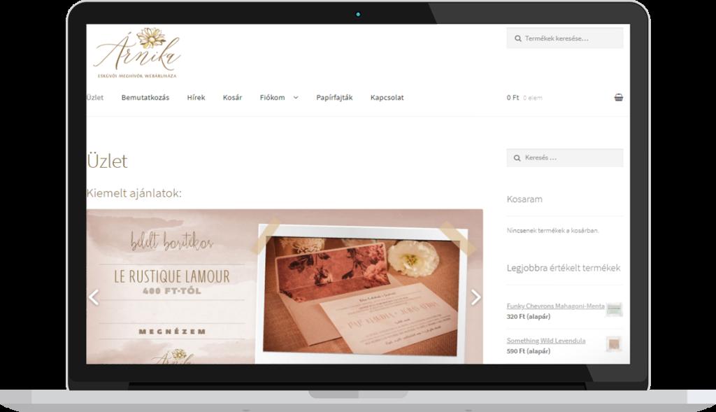 Webáruház készítés referencia oldal