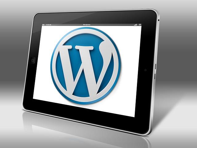 Weboldal mentése, WordPress logó tableten